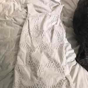 scalloped white lilly dress, worn once